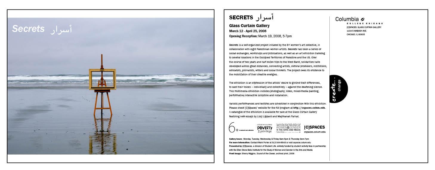 Exhibition Postcard: Secrets